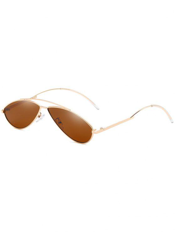 trendy Anti UV Irregular Frame Novelty Sunglasses - LIGHT BROWN