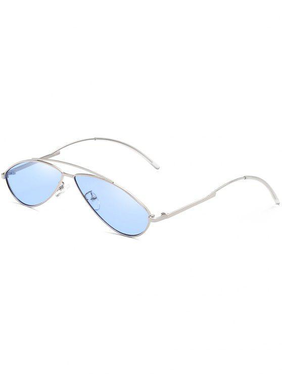 Lunettes de soleil anti-UV Irregular Frame Novelty - Bleu Foncé Ciel