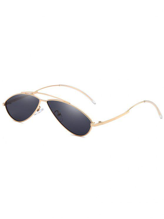 Óculos de sol anti UV Irregular Frame Novelty - Preto