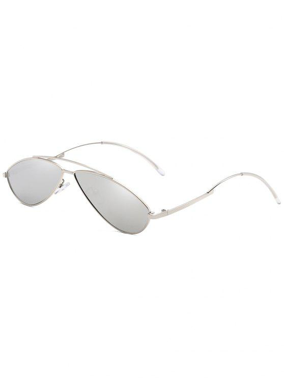Óculos de sol anti UV Irregular Frame Novelty - Platina