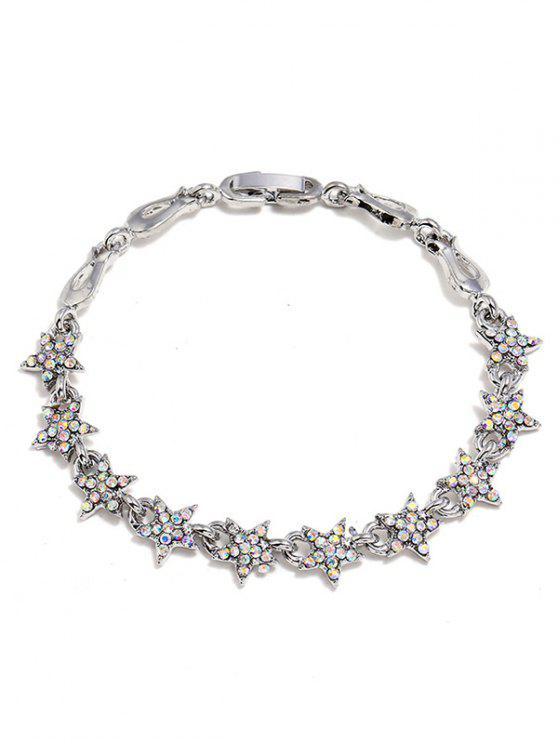 buy Rhinestone Star Decoration Alloy Bracelet - SILVER