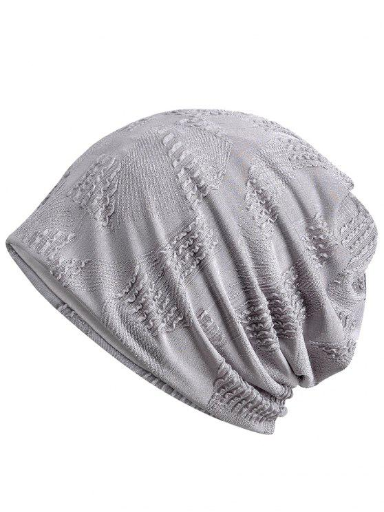 trendy Lightweight Solid Color Breathable Beanie Hat - GRAY CLOUD