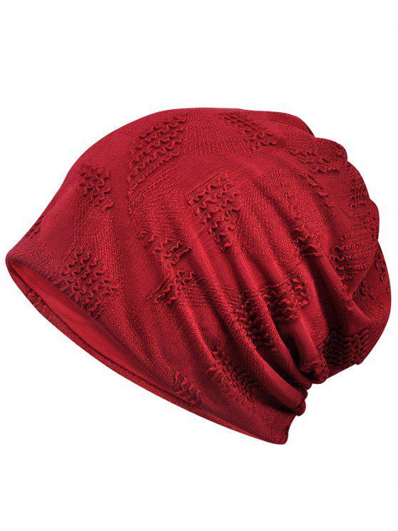 Cappello Beanie Traspirante In Tinta Unita - Vino Rosso