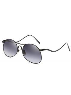Anti Fatigue Flat Lens Bent Legs Sunglasses - Jet Gray