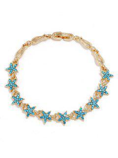 Bracelet En Alliage De Décoration Strass étoiles - Bleu Saphir