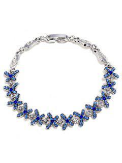 Rhinestone Mariposas Diseño Decoración Aleación Pulsera - Azul De Zafiro