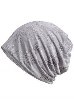 Lightweight Solid Color Breathable Beanie Hat - Gray Cloud