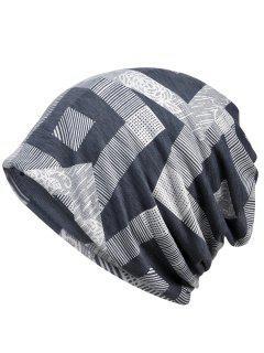 Einzigartiger Geometrischer Bedruckter Beanie Hut - Grau