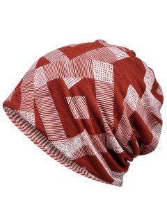 Sombrero De Gorrita Estampado Geométrico único - Vino Tinto