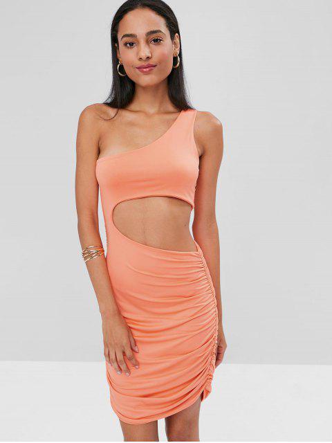 Ausgestelltes One-Shoulder-figurbetontes Kleid - Leichter Salm XL Mobile