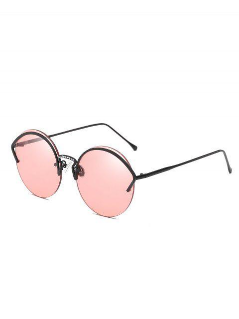 Einzigartige halbrandlose Sonnenbrillen mit Rahmen aus legiertem Aluminium - Flamingo Rosa  Mobile