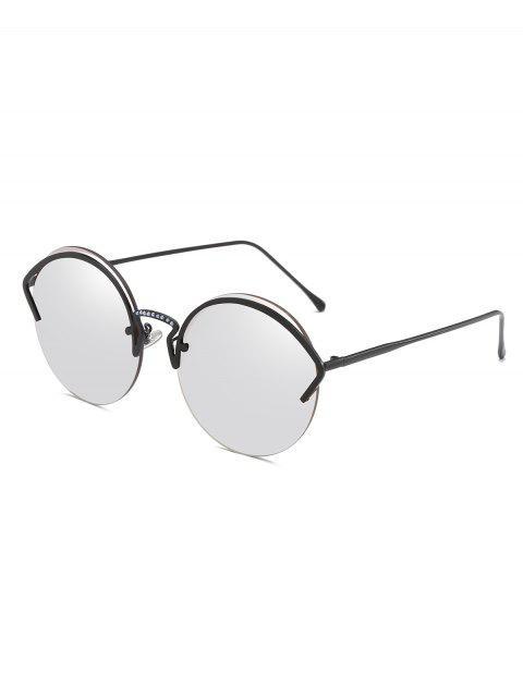 Gafas de sol semi sin montura de aleación de marco único - Platino  Mobile