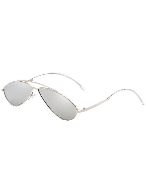 Lunettes de soleil anti-UV Irregular Frame Novelty - Gris argenté  Mobile