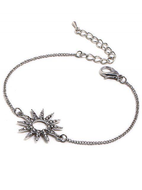 new Sun Design Rhinestone Chain Bracelet - SILVER  Mobile