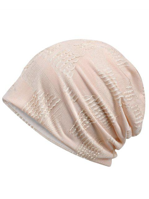 latest Lightweight Solid Color Breathable Beanie Hat - DESERT SAND  Mobile