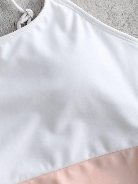 online Cami Color Block High Cut Swimsuit - MULTI L Mobile