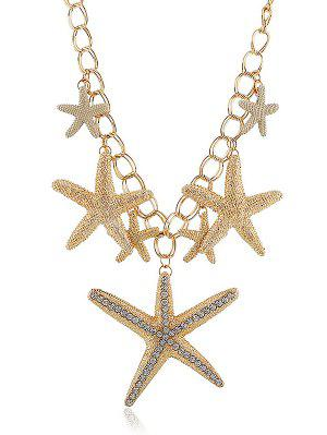 Necklaces pendants for women cute and vintage necklaces fashion rhinestone starfishes decoration pendant chain necklace gold aloadofball Image collections