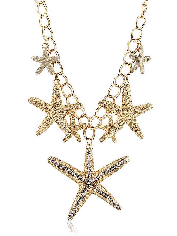 Rhinestone Starfishes