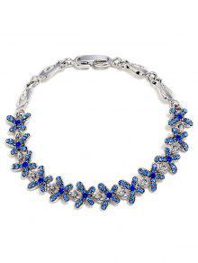 حجر الراين الفراشات تصميم سبيكة الديكور سوار - الياقوت الأزرق