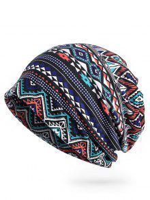 نمط هندسي مفتوح الأعلى قبعة صغيرة - منتصف الليل الأزرق
