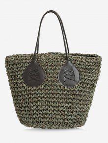 حقيبة حمل لون بني كاجوال سترابي سترو بوهيمية - أخضر