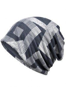 فريد هندسي مطبوعة قبعة صغيرة قبعة - اللون الرمادي