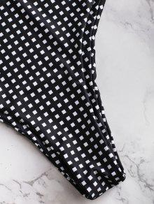 Grande Alto A De Cuadros Tac De Negro 243;n Bikini De Conjunto 2x Talla fFqXvwX