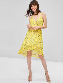 Volantes Florales Con Vestido S Sol Amarillo De q45zz