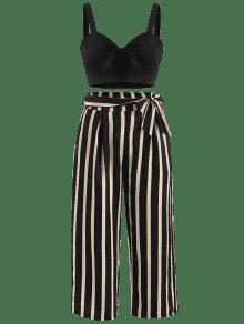 Y Negro Anchos S Delanteros Conjunto Pantalones De Rayas vxYgSqIw