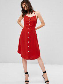 Lava L Descubierta Vestido Espalda Y Rojo Con Espalda Abierta XwAq08