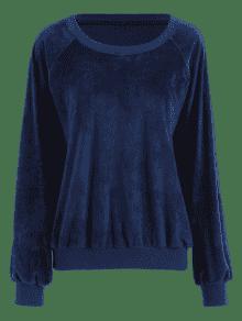 De Extragrande S Terciopelo Azul Sudadera Profundo Suave q75nqd