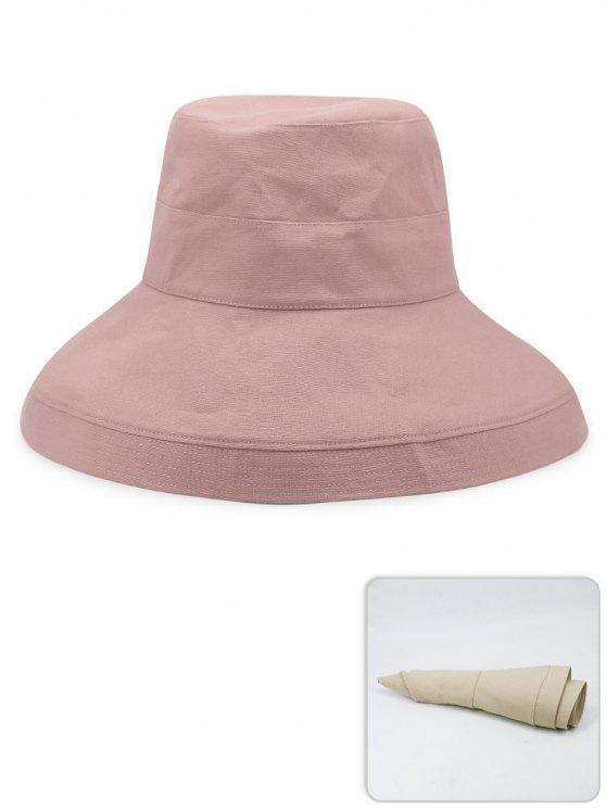 Chapéu de pescador leve de cor sólida portátil - Rosa Claro