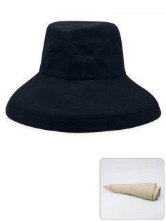 Chapeau De Pêcheur Léger De Couleur Unie Portatif - Bleu Profond