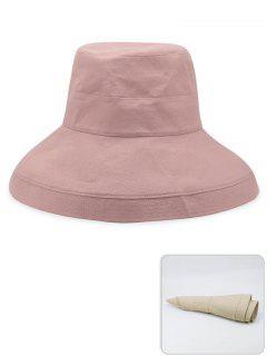 Portable Solid Color Lightweight Fisherman Hat - Light Pink