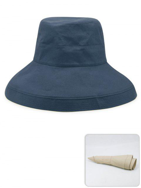 shops Portable Solid Color Lightweight Fisherman Hat - MARBLE BLUE  Mobile