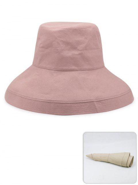 Tragbarer einfarbiger leichter Fischer-Hut - Pink  Mobile