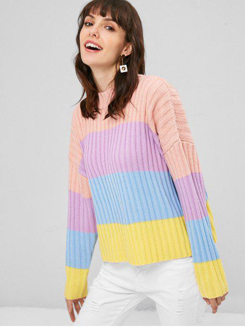 hot Colorful Stripes Sweater - MULTI ONE SIZE Mobile