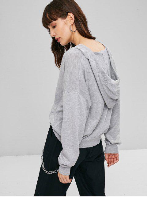 Camisola Com Capuz Com Cordão - Nuvem Cinzento Um Tamanho Mobile