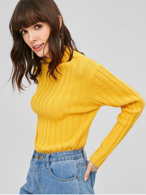 new High Neck Plain Sweater - RUBBER DUCKY YELLOW L Mobile