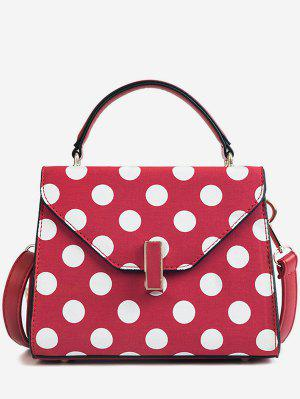 Polka Dot Print Retro Flap Handtasche mit Gurt