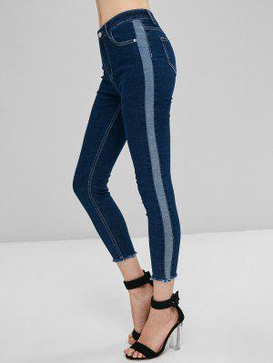Zweifarbige Dünne Jeans