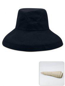 المحمولة لون خالص خفيفة الوزن قبعة الصياد - ازرق غامق