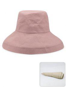 المحمولة لون خالص خفيفة الوزن قبعة الصياد - وردي فاتح