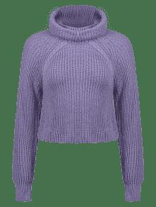 52% OFF  2019 ZAFUL Cable Knit Turtleneck Cropped Sweater In MEDIUM ... 32a7d8c41