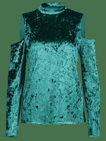 Con De Triturado Hombros Ligero Verde De S Terciopelo Mar Fr Top 237;os wtERE