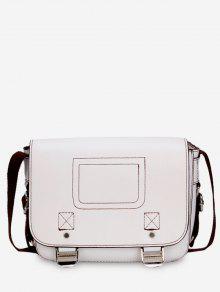 حقيبة كروس كاجوال من الجلد الصناعي - أبيض