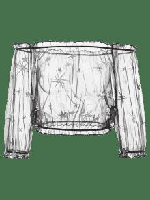 Ver Malla La A Lentejuelas Negro Blusa De De 233;s L Trav Oqx1wxZa