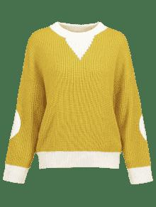 Amarillo Sweater Block Color Caucho Elbow Ducky Patches wq4zP8xYO