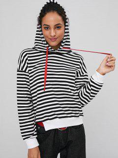 Cutout Stripes Hoodie - Multi L
