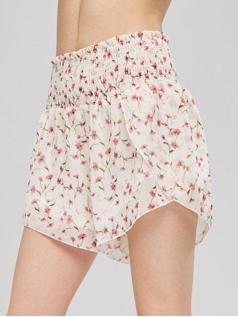 Tiny Floral Smocked Shorts - Beis M Mobile